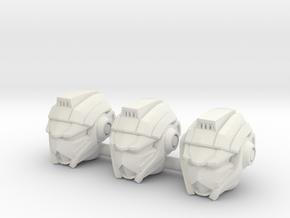 Autotrooper Head for POTP Jazz (4mm) in White Natural Versatile Plastic