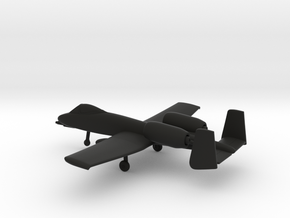 Fairchild Republic A-10 Thunderbolt II in Black Natural Versatile Plastic: 1:200