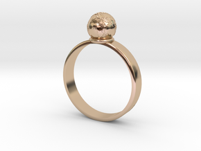 The Earth is not Flat in 14k Rose Gold Plated Brass