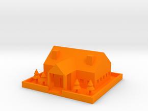 [1DAY_1CAD] HOUSE in Orange Processed Versatile Plastic
