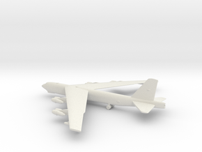 Boeing B-52 Stratofortress in White Natural Versatile Plastic: 1:350