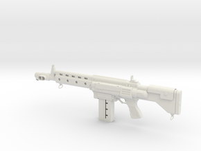 Steampunk Rifle 01 in White Natural Versatile Plastic: 1:8
