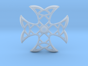 Pointed Cross in Smooth Fine Detail Plastic