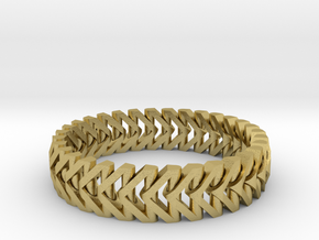 PiP Bracelet Version 3 (Articulating) in Natural Brass (Interlocking Parts)