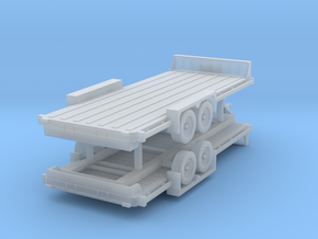 N 20' Car Trailer 2 Pack in Smooth Fine Detail Plastic
