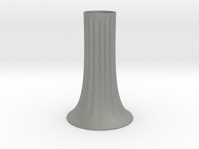 Fluted Vase in Gray PA12