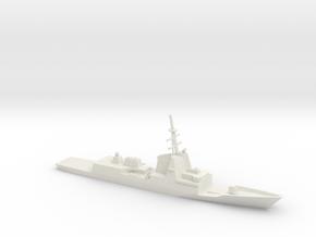 1/700 Scale Spanish frigate Álvaro de Bazán in White Natural Versatile Plastic