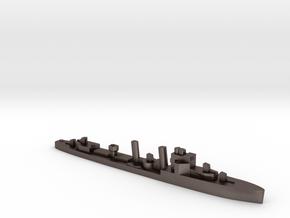 HMS Exmouth 1:2400 WW2 destroyer in Polished Bronzed-Silver Steel