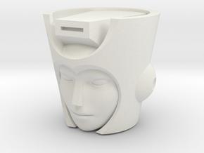 Chromia head for POTP Moonracer in White Natural Versatile Plastic
