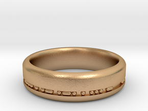 6mm Morse Code Ring [Customisable] - US Size 9.5 in Natural Bronze: 9.5 / 60.25