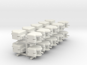 Normandy Battery x20 in White Natural Versatile Plastic