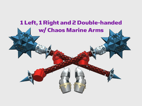 4x Power Mace: Vial - Chaos Set in Smooth Fine Detail Plastic