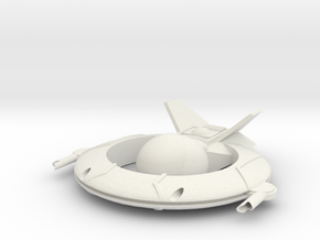 AC-190 Light Fightercraft in White Natural Versatile Plastic