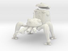 Spider Tank in White Natural Versatile Plastic