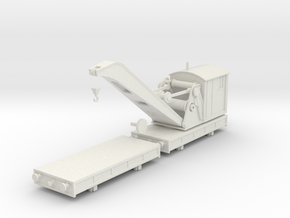Breakdown Crane & Flatbed OO/HO (Left) in White Natural Versatile Plastic
