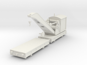 Breakdown Crane & Flatbed OO / HO (Right) in White Natural Versatile Plastic