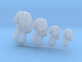 Tiny Human Babies Growing in Frosted Detail  in Smooth Fine Detail Plastic