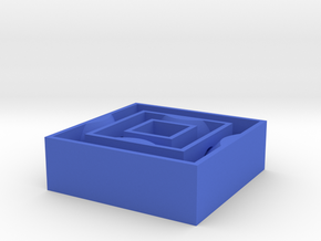 [1DAY_1CAD] SQUARE SPINNER in Blue Processed Versatile Plastic