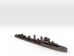 HMS Faulknor 1:1800 WW2 destroyer in Polished Bronzed-Silver Steel