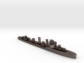 HMS Faulknor 1:3000 WW2 destroyer in Polished Bronzed-Silver Steel