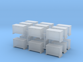1/144 DKM 8.8cm and 10.5cm Ammo Box Set x18 in Smooth Fine Detail Plastic