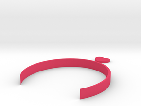 [1DAY_1CAD] HEART HEADBAND in Pink Processed Versatile Plastic