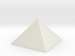 Louvre Pyramid 1/1000 in White Natural Versatile Plastic