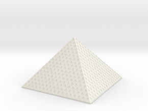 Louvre Pyramid 1/1250 in White Natural Versatile Plastic