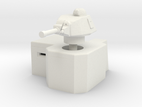 Bunker with Somua S35 turret 1/100 in White Natural Versatile Plastic