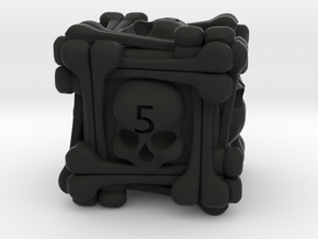 Necromancer's D6 in Black Natural Versatile Plastic