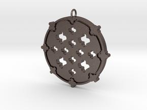 Nataraja Pendant in Polished Bronzed-Silver Steel