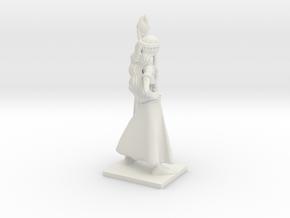 Fantasy Figures 02 - Druid in White Natural Versatile Plastic