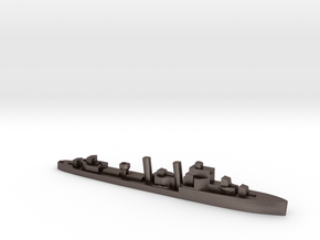 HMS Hardy 1:3000 WW2 destroyer in Polished Bronzed-Silver Steel