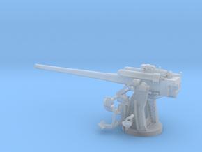 1/56 IJN Type 10 120mm Dual Purpose Gun in Smooth Fine Detail Plastic