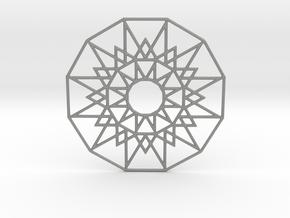 Sun Medallion in Gray PA12