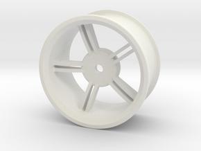 Drift Wheels 6mm offset in White Natural Versatile Plastic
