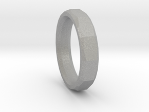Geometric Men's ring in Aluminum