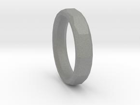 Geometric Men's ring in Gray PA12