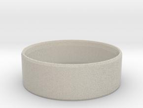 Simplistic Men's Ring  in Natural Sandstone: 10 / 61.5