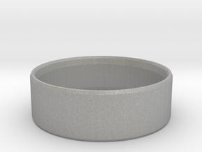 Simplistic Men's Ring  in Aluminum: 10 / 61.5