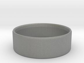 Simplistic Men's Ring  in Gray PA12: 10 / 61.5