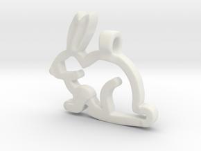 Rabbit in White Premium Versatile Plastic