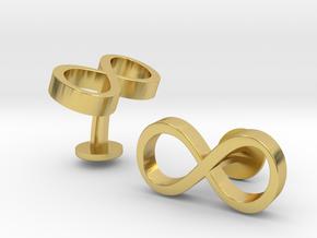 Infinity Wedding Cufflinks in Polished Brass