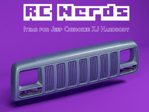 RCN215 Grill for Team Raffee Jeep Cherokee XJ in White Natural Versatile Plastic