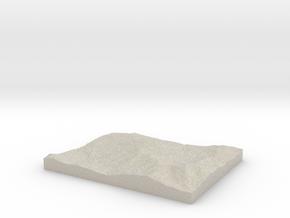 Model of Mont Brock in Natural Sandstone