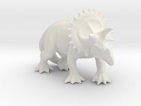 dinosaur Triceratops  in White Natural Versatile Plastic