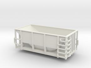 DMIR Ore Car U31 - HOscale in White Natural Versatile Plastic