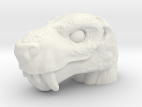 Gorganix Head (Multisize) in White Natural Versatile Plastic: Medium