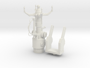 Space Orks Electro Tractor Cannon in White Natural Versatile Plastic