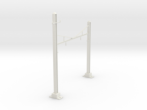 CATENARY PRR 2 TRACK N SCALE  in White Natural Versatile Plastic